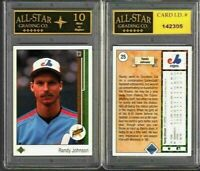 Randy Johnson 1989 Upper Deck Rookie Card #25 GRADED ASG 10 MINT #G