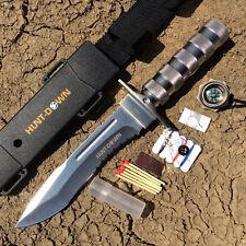 "12"" Hunt-Down Brand Hunting / Combat / Survival Knife w/ Survival Kit & Sheath -"