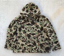 Vintage Duck Camo Camouflage Hooded Jacket hunting USA