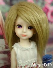 "5-6"" 14cm BJD doll fabric fur wig Khaki wig bjd hair for 1/8 bjd dolls"
