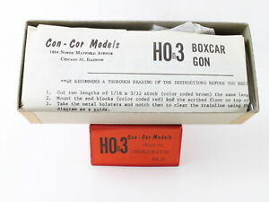 Con-cor Models Quality Hon3 50 Undecorated Boxcar Kit
