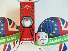 NEW CALLAWAY CHROME SOFT TRUVIS SPECIAL EDITION DIAMONDS GOLF BALLS X 3
