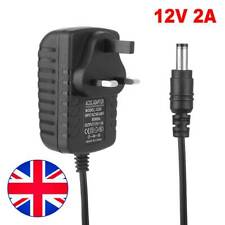 UK AC DC 12V 2A Power Supply Adapter Charger For Camera /Led Strip Light CCTV