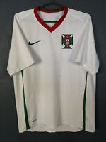 MEN'S NIKE PORTUGAL 2008/2010 AWAY FOOTBALL SOCCER SHIRT JERSEY CAMISETA SIZE L