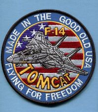 GRUMMAN F-14 TOMCAT FLYING FOR FREEDOM US Navy VF- Fighter Squadron Jacket Patch
