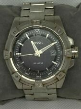 Fossil AM4241 Men's Watch Analog 44mm Date Grey Stainless Steel Round 10ATM C623