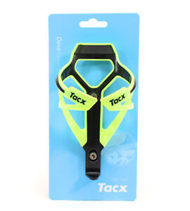 NEW Tacx Deva Bottle Cage Polyamide Bicycle Bike Water - Fluo Yellow w/ Black