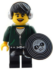 NEW LEGO DJ MINIFIG disc jockey record figure minifigure hip hop headphones