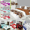 8 Pcs BUMPER BEDDING SET ? Duvet Cover ? Fitted Sheet ? Pillow Cases ? Curtains