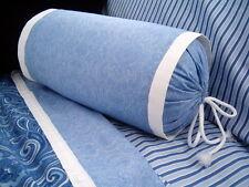 NEW Custom Ralph Lauren Putney Paisley Neckroll Pillow Neck Roll White Flange