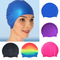 New Silicone Swimming Cap Long Hair Large for Adult Men Ladies Waterproof Hat
