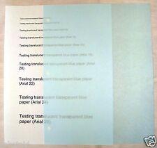 20 Sheets Translucent Blue Paper 8.5 x 11 Scrapbook Laser Printer Compatible