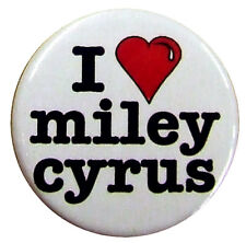 i heart Miley Cyrus - 25mm (1 inch) fun badge - I love.