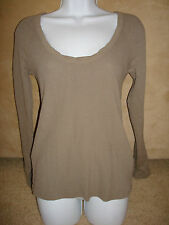 NWT James Perse Beige Long Sleeve Thermal Top WCE3861CU $135 -Size 4 XL