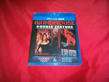 BLOODY TEASE & BLOOD SISTERS Grindhouse Double Feature 3D Blu-Ray DVD Fac Sealed