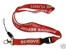 REMOVE BEFORE FLIGHT PORTA BADGE / TELEFONO PORTA NOME PASS PORTACHIAVI LANYARD