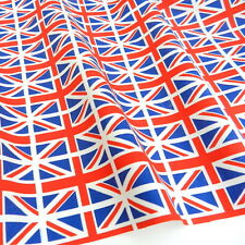 "Union jack fabric flags fabric 100% cotton 45"" wide ( 112cm ) per half metre"