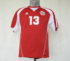 05fdd108e DENMARK home Football   Soccer jersey Red Adidas shirt  13 Size M kit