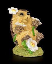 Lustige Igel Figur mit Gänseblümchen - Blumenzauber - Fantasy Igelkind Geschenk