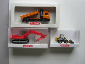 Wiking Construction Vehicles in 1:87 scale.