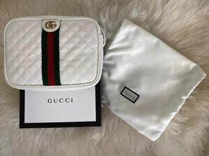 Gucci White Ophidia Shoulder Bag Quilted Leather Crossbody/ Belt Bag GG