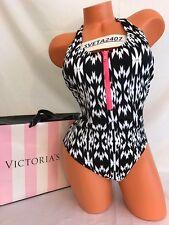 Victoria's Secret Swim One Piece~Zip Front Racerback~Push Up~Geo Aztec~Sz L