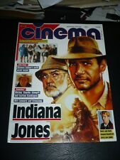 Indiana Jones & Last Crusade w/ Harrison Ford - Cinema Magazine cover - Sep 1989