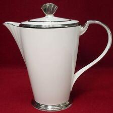 "NORITAKE china STERLING TRIBUTE 9770 pattern COFFEE POT with LID 7-1/2"""