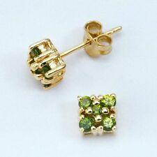Handmade Yellow Gold Fine Gemstone Earrings