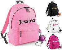 PERSONALISED KIDS BAGPACK, ADD YOUR CUSTOM NAME SCHOOL NURSERY RUCKSACK KIDS BAG