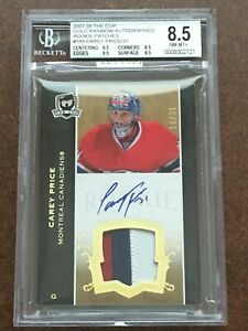 2007 07-08 CAREY PRICE THE CUP GOLD RAINBOW /31 ROOKIE RC 3-COLOR PATCH BGS 8.5