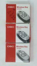 3 LOT DSC WS4939  SECURITY WIRELESS FOUR BUTTON KEY FOB ALARM