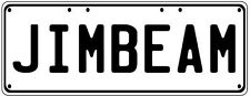 JIM BEAM Number Plate Fathers Day Gift Man Cave Pool Room  Licence Plate