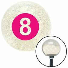 Pink 8 Ball Clear Metal Flake Shift Knob with M16 x 1.5 Insert auto muscle strip