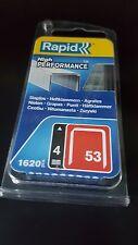 Tacker Klammern  Rapid  4mm  STAHL   1620 Stück   Rücken 11,4mm   rapid/novus