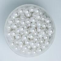 Lot 50 Perle imitation 6mm Blanc, Pour vos creation Bijoux, Collier, Bracelet...
