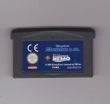 MONSTERS & CO. + ALLA RICERCA DI NEMO - Game Boy Advance Gba - CARTUCCIA FE
