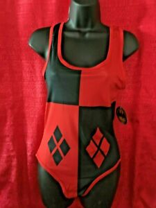 Harley Quinn Diamonds Costume Women Bodysuit (3 snap buttons) Available M to XL