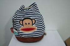Paul Frank Nautical Bag - White and Navy Stripes