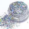 Silver Holographic Glitter Flakes For Resin, Tumblers, Nails, Crafts and Makeup