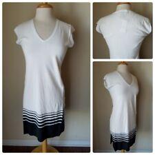 White House Black Market Deep V-Neck Maxi Tabard Sleeveless Mini Dress Fitted XS
