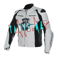 """Leather """"Mv Agusta"""" Jacket 2016 Motorcycle Cowhide Motorbike Racing All Sizes"""
