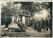 1922 Funeral Burial of Diplomat Author Thomas N Page Washington DC Press Photo