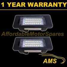 2x per BMW 1 Series E82 E88 X1 E84 2004 in data 24 Bianco LED Targa Luce Luci