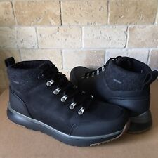 42d9d679935 UGG OLIVERT BLACK WATERPROOF LEATHER WOOL HIKER SNOW BOOTS SHOES SIZE 11  MENS