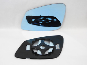 Wing Mirror Glass For BMW SERIES 5 F10 F11 2010-16 Convex BLUE Left /B030