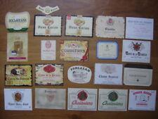 LOT Etiquettes VIN de TABLE pour bouteilles de vin WINE LABEL