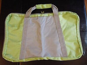 Green & Gray Nylon Laptop Briefcase Messenger Duffle Book Paper Bag Tote