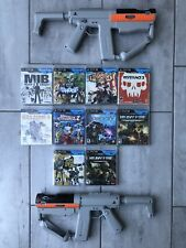 PlayStation 3 Move 2 Sharp Shooter Light Gun USED With 10 Move Games