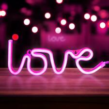 Love Neon Signs, LED Neon Light for Party Supplies, Girls Room Decoration